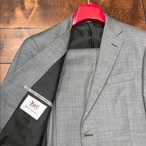 Grey Birdseye Hickey Freeman Suit